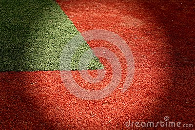 Red and green grass
