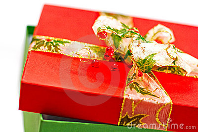 Red and green gift box