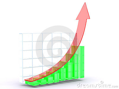 Red Green Growth Graph Stock Photography - Image: 12739412