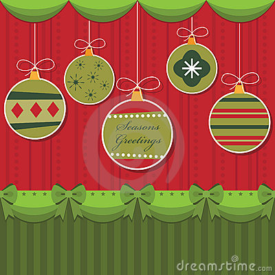 Red and green hanging decorations