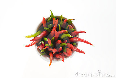 Red and green hot pepper