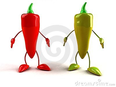 Red And Green Pepper Royalty Free Stock Photography - Image: 3867957