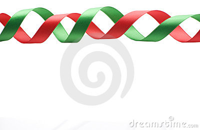 Red and Green Ribbon Border