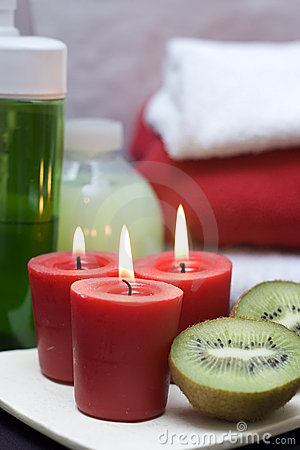 Red and green spa