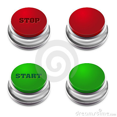 Red and green START/STOP button