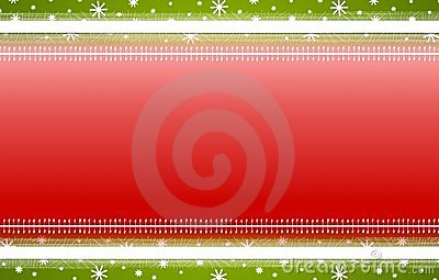 Red Green Stripes Snowflakes Christmas Background