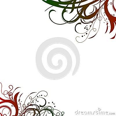 Free Red Green Swirls Background Stock Photos - 7908073