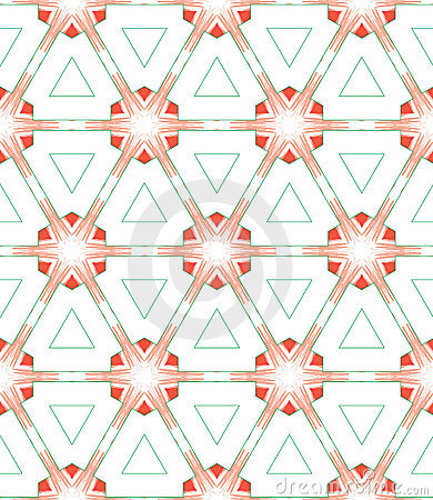 Red green white triangle pattern