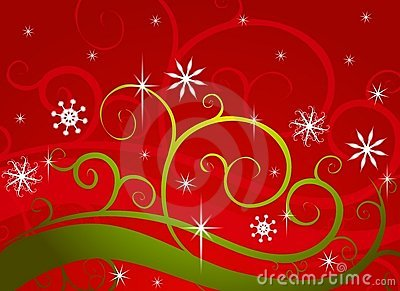 Red Green Winter Wonderland Snowflakes