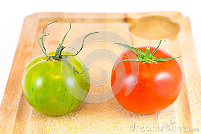 Red and Green zebra tomatoes