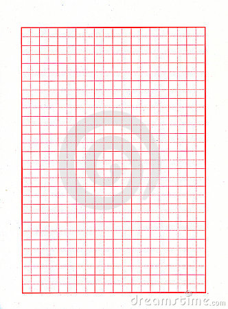 Red grid paper