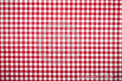 Red grid table cloth pattern