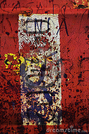 Red grunge abstract 1