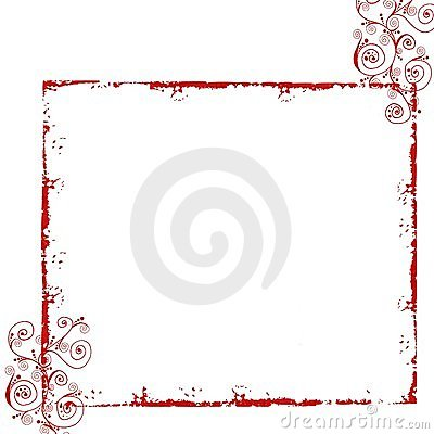 Free Red Grunge Floral Frame Stock Photography - 12692962