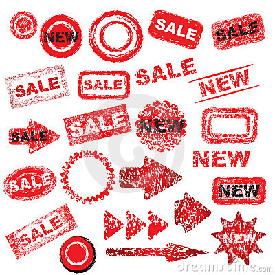 Free Red Grunge Signs Royalty Free Stock Photos - 9333548