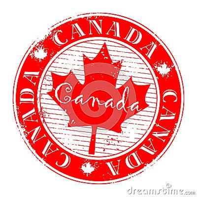 Red grunge stamp