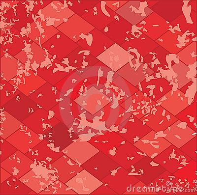Red grunge textured.Vector.