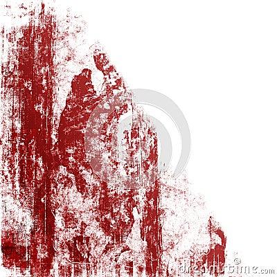 Red Grunge On White