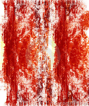 Red Grunge On White