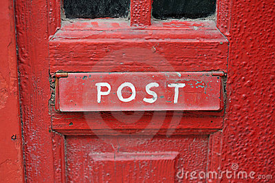Red Grungy Mailbox