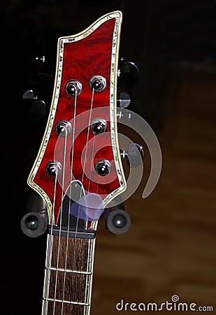 Red Guitar Headstock