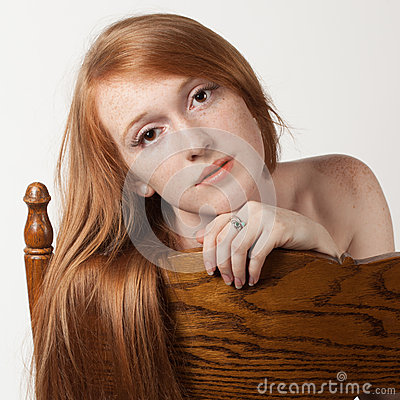Red Hair, Brown Chair