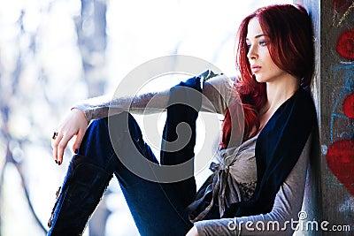 Red hair city girl