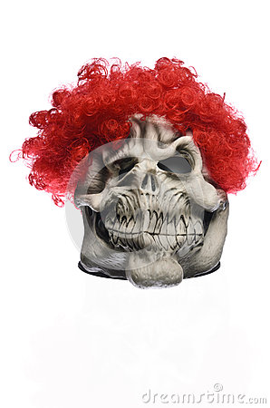 Red Hair Ghost Mask