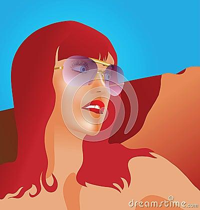 RED HAIR GIRL Red hair girl face