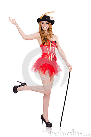 Free Red Hair Girl In Carnival Costume Isolated On Stock Images - 58695944