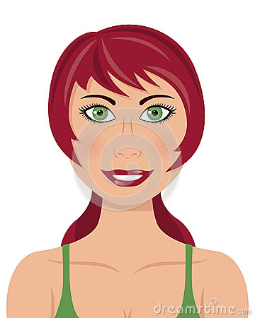 Red Hair Green Eyes Woman