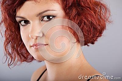 Red hair woman portrait