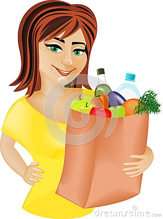 Free Red-haired Girl With Food Royalty Free Stock Photos - 30120378