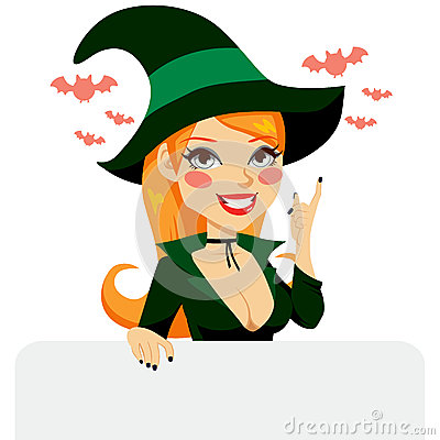 Red Haired Halloween Witch