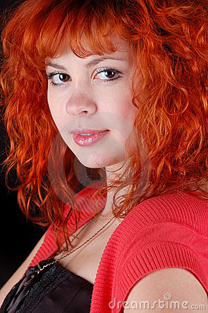 Red-haired pretty girl