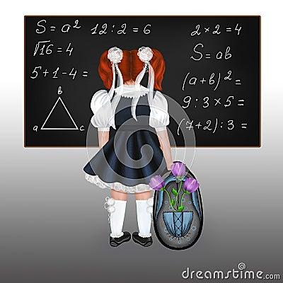 Red-haired schoolgirl