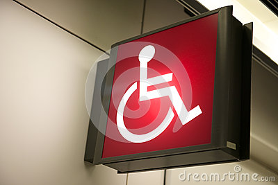 Red Handicap Sign