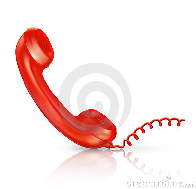 Free Red Handset Stock Image - 20634171