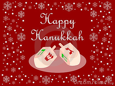 Red Happy Hanukkah Card
