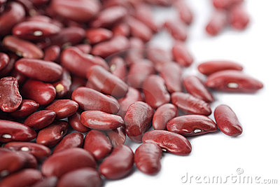 Red haricot beans isolated