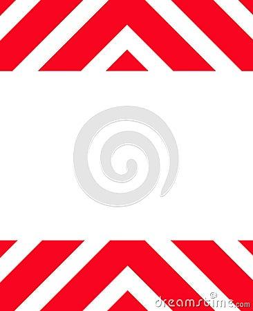 Red Hazard warning sign