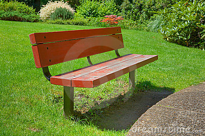 Red HDR bench