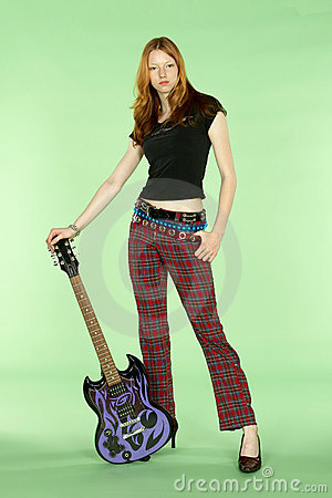 Red Head Rock And Roll Guitar Player Royalty Free Stock ...