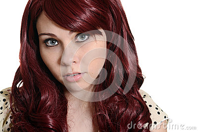 Red head teen girl portrait