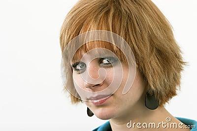 Red headed teen