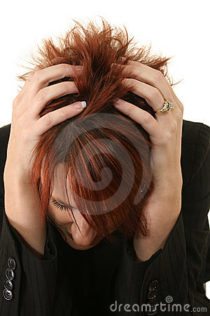 Free Red-headed Woman Scratching Royalty Free Stock Photos - 7798238