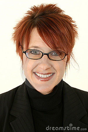 Free Red-headed Woman Smiling Stock Image - 7798211