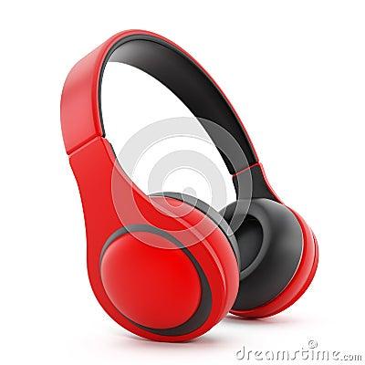 Free Red Headphones Stock Image - 43702661
