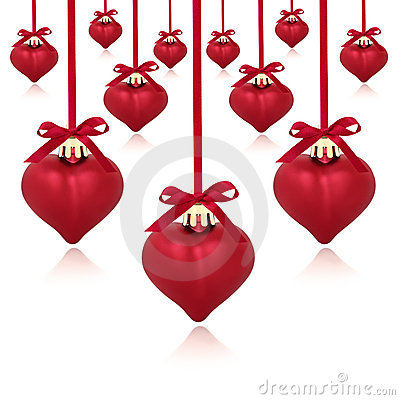 Red Heart Baubles