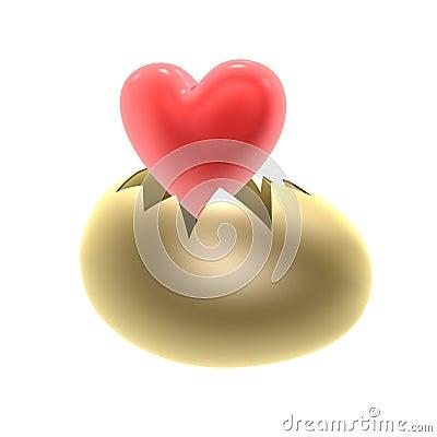 Red heart birth
